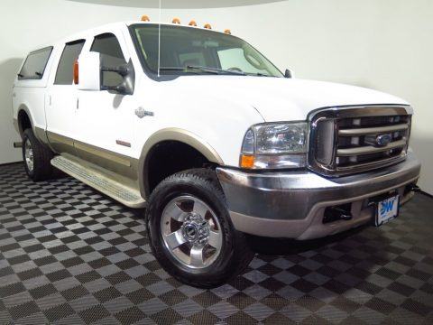 Oxford White 2004 Ford F350 Super Duty King Ranch Crew Cab 4x4