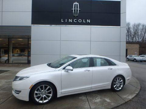 White Platinum 2015 Lincoln MKZ Hybrid