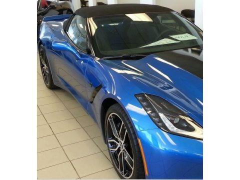 Laguna Blue Tintcoat 2015 Chevrolet Corvette Stingray Convertible