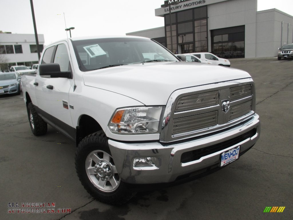 2012 dodge ram 2500 hd slt crew cab 4x4 in bright white 138275 all american automobiles. Black Bedroom Furniture Sets. Home Design Ideas