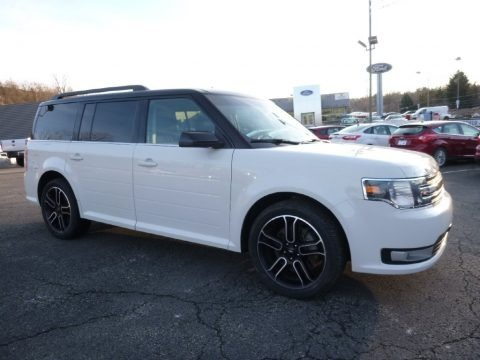 White Suede 2014 Ford Flex SEL