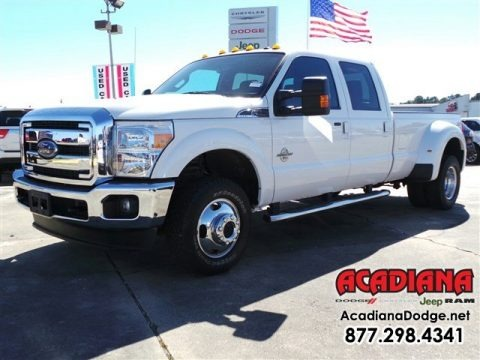 Oxford White 2013 Ford F350 Super Duty Lariat Crew Cab 4x4 Dually