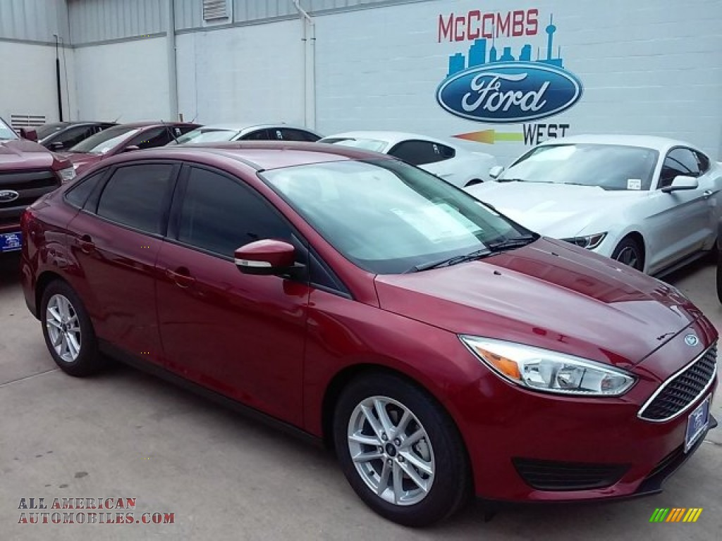 2016 ford focus se sedan in ruby red 267506 all american automobiles buy american cars for. Black Bedroom Furniture Sets. Home Design Ideas