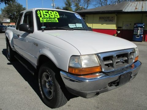 Oxford White 2000 Ford Ranger XLT SuperCab 4x4