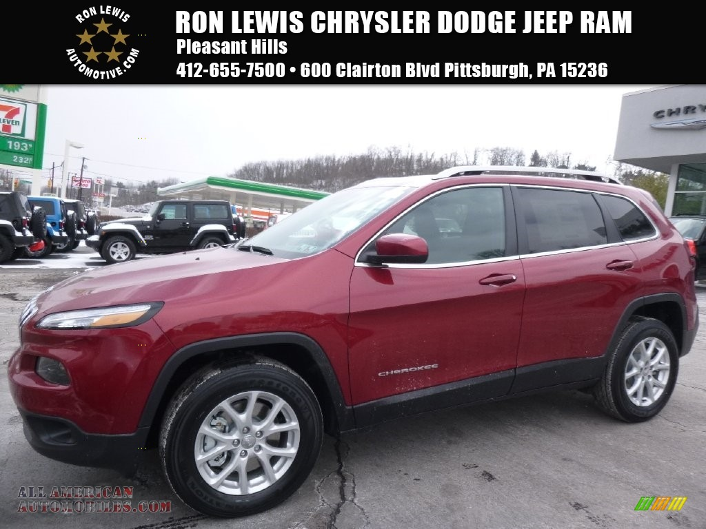 2016 jeep cherokee latitude 4x4 in deep cherry red crystal pearl 267379 all american. Black Bedroom Furniture Sets. Home Design Ideas