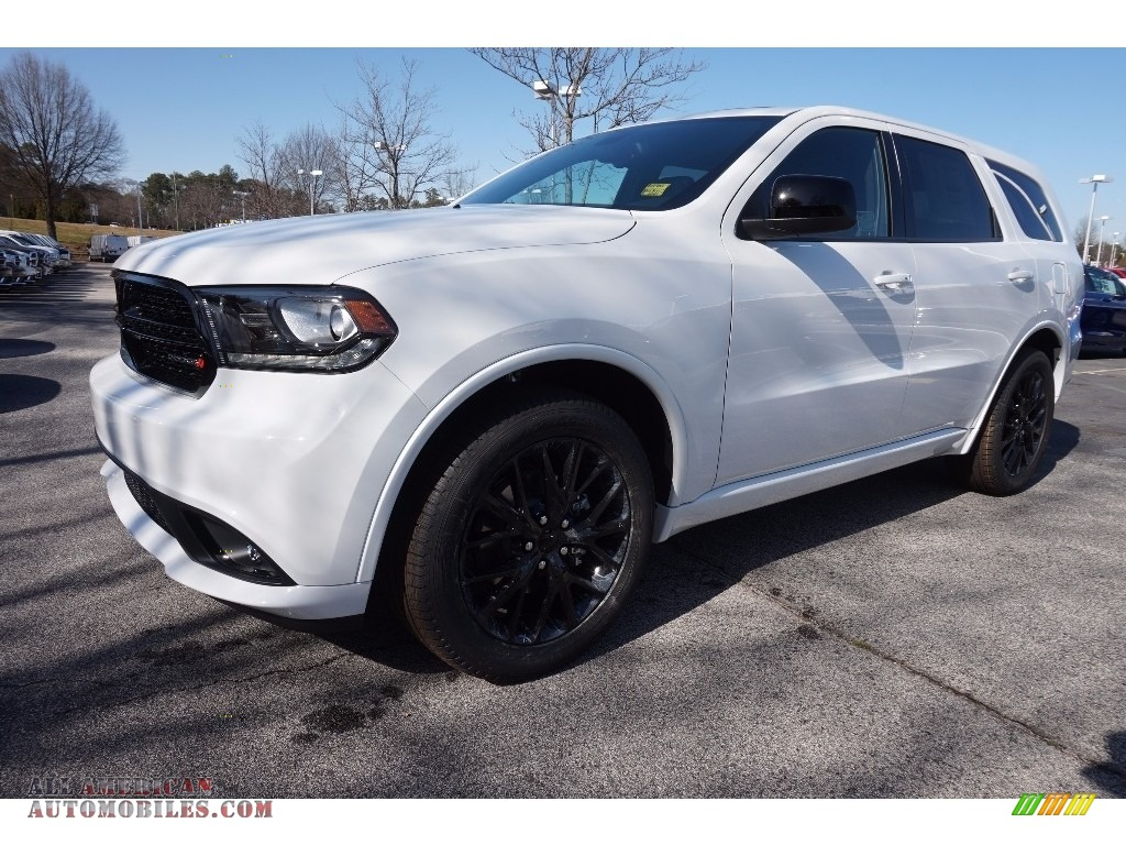 2016 dodge durango sxt blacktop awd in bright white for Steve white motors inc