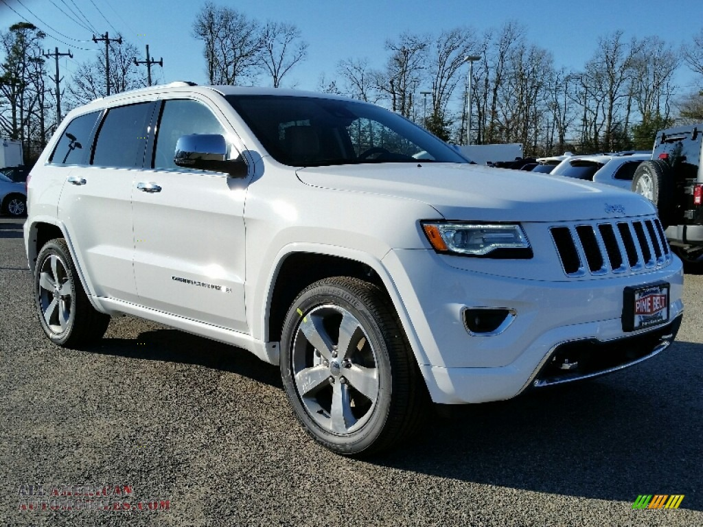 2016 jeep grand cherokee overland 4x4 in bright white 312726 all american automobiles buy. Black Bedroom Furniture Sets. Home Design Ideas