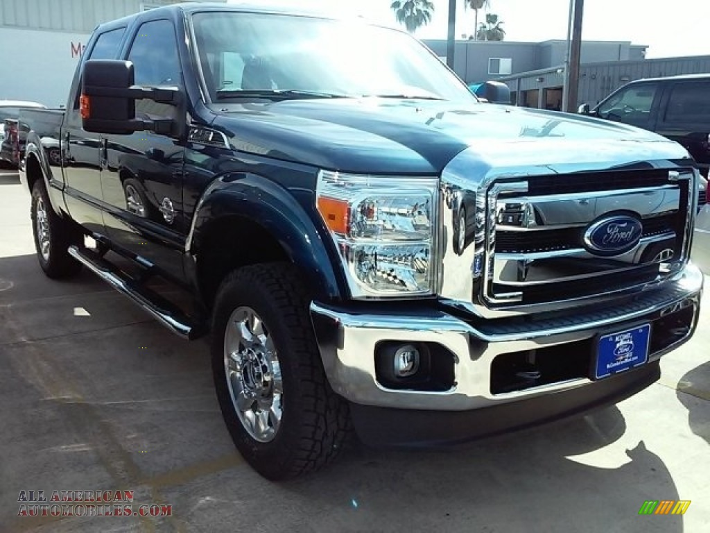 2016 ford f250 super duty lariat crew cab 4x4 in blue jeans metallic b93265 all american. Black Bedroom Furniture Sets. Home Design Ideas