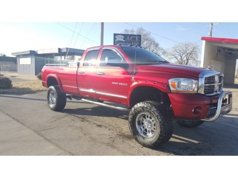 Inferno Red Crystal Pearl 2006 Dodge Ram 2500 Laramie Quad Cab 4x4