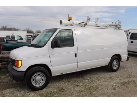 Oxford White 2005 Ford E Series Van E150 Commercial
