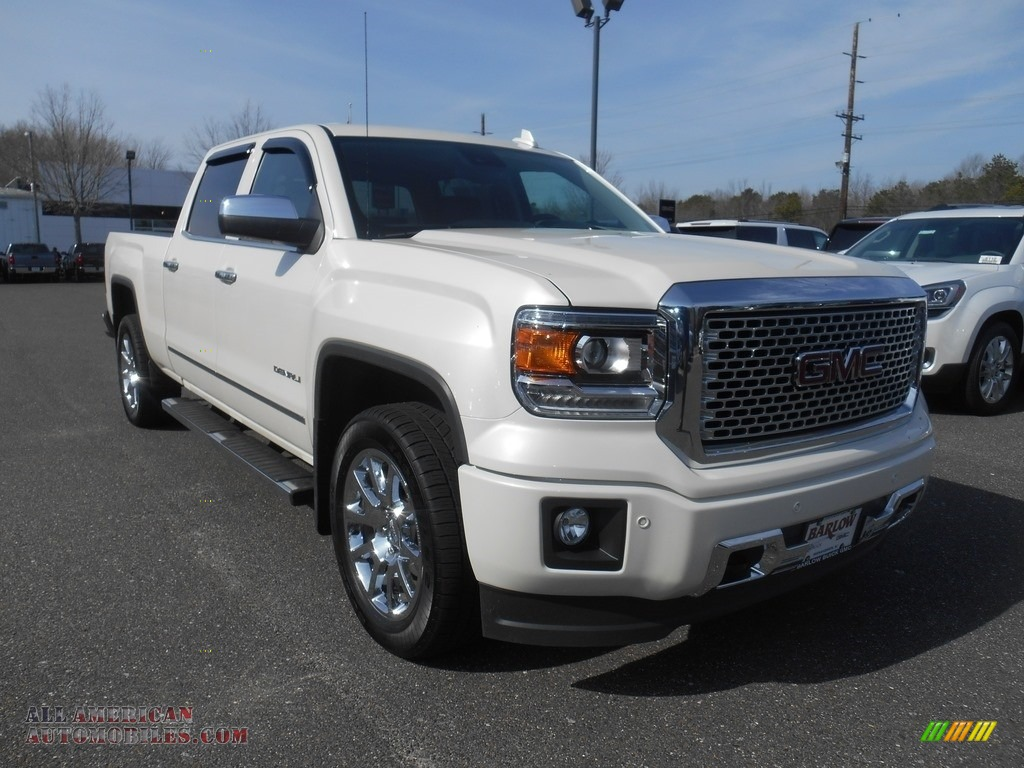 2015 gmc sierra 1500 denali crew cab 4x4 in white diamond tricoat 132455 all american. Black Bedroom Furniture Sets. Home Design Ideas