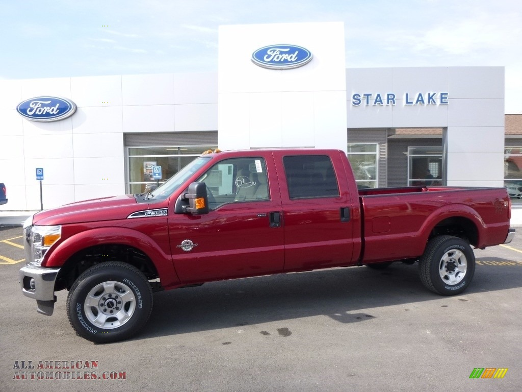 2016 ford f350 super duty xlt crew cab 4x4 in ruby red metallic c12240 all american. Black Bedroom Furniture Sets. Home Design Ideas
