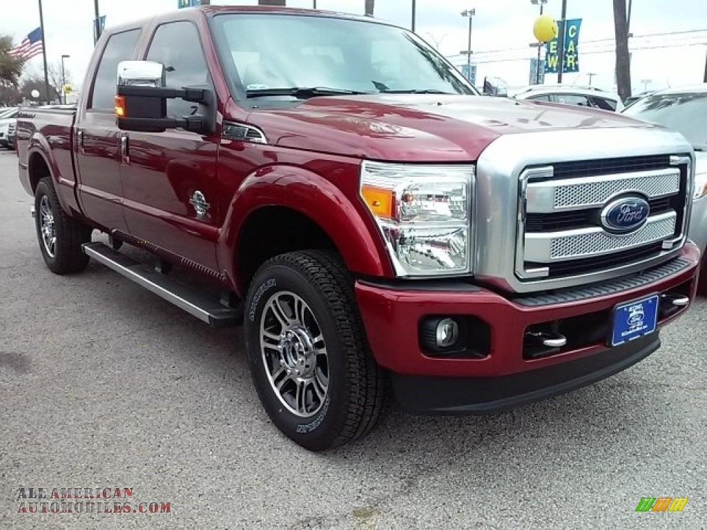 2016 ford f250 super duty platinum crew cab 4x4 in ruby red metallic c13023 all american. Black Bedroom Furniture Sets. Home Design Ideas