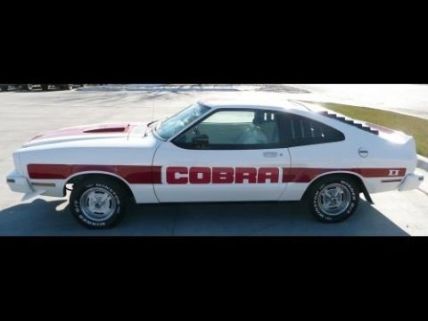 Polar White 1978 Ford Mustang II Cobra