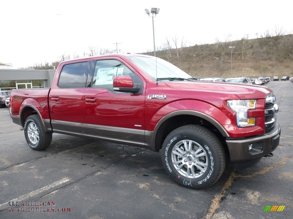 2016 ford f150 lariat supercrew 4x4 in ruby red b66872 all american automobiles buy. Black Bedroom Furniture Sets. Home Design Ideas