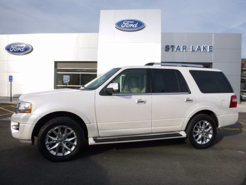 White Platinum Metallic Tricoat 2016 Ford Expedition Limited 4x4