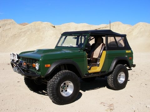 Land Rover Green 1971 Ford Bronco Sport Wagon