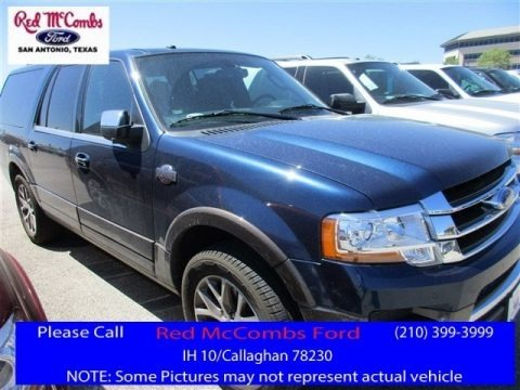 Blue Jeans Metallic 2016 Ford Expedition EL King Ranch