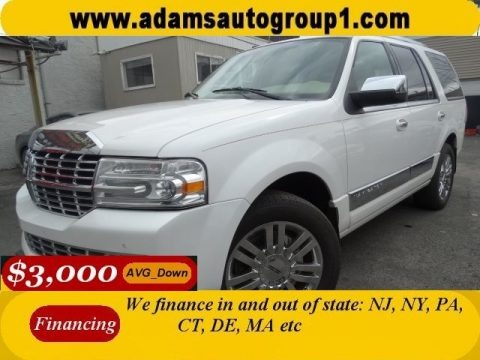 White Platinum Tri-Coat 2009 Lincoln Navigator 4x4