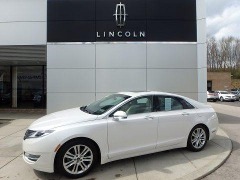 White Platinum 2016 Lincoln MKZ 2.0 AWD