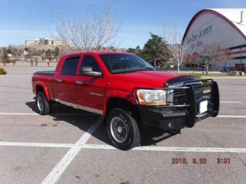 Flame Red 2006 Dodge Ram 2500 SLT Mega Cab 4x4