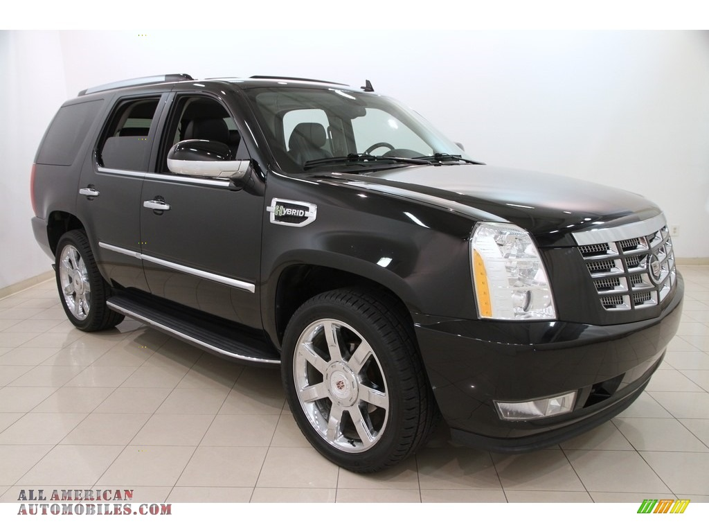 2009 cadillac escalade hybrid awd in black raven 192773 all american automobiles buy. Black Bedroom Furniture Sets. Home Design Ideas