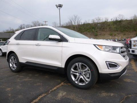 White Platinum 2016 Ford Edge Titanium AWD