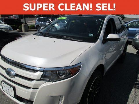 White Platinum Tri-Coat 2013 Ford Edge SEL