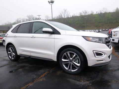 White Platinum 2016 Ford Edge Sport AWD