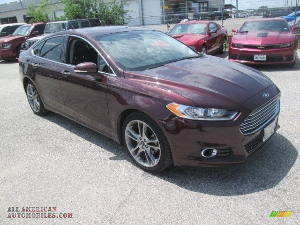 2013 ford fusion titanium in bordeaux reserve red metallic 183655 all american automobiles. Black Bedroom Furniture Sets. Home Design Ideas