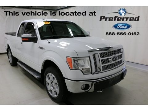 Oxford White 2010 Ford F150 Lariat SuperCab 4x4