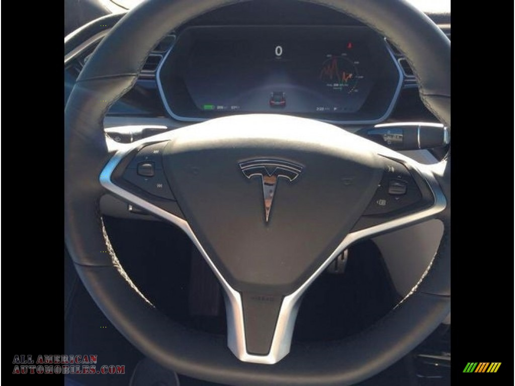 2015 Model S P85D Performance - Solid Black / Grey photo #7