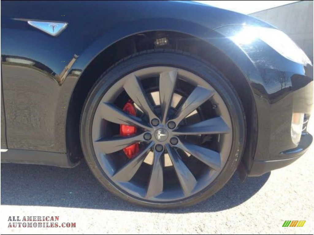 2015 Model S P85D Performance - Solid Black / Grey photo #12