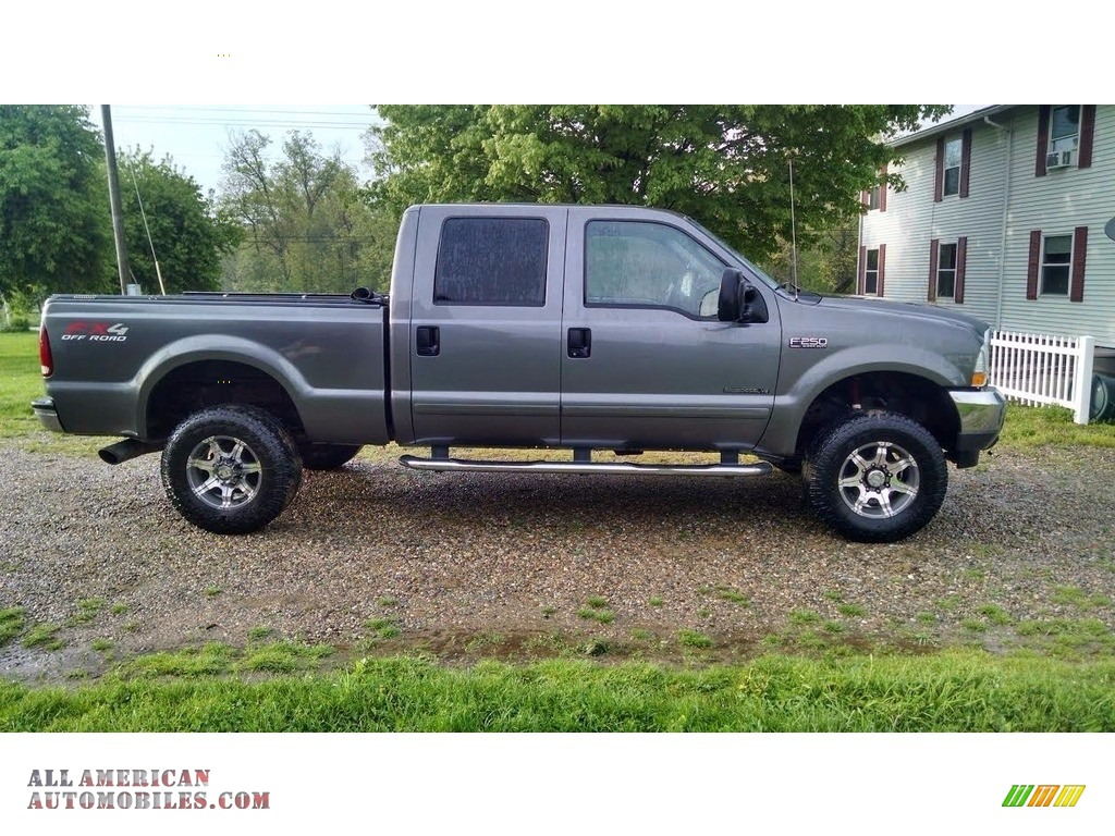 2003 ford f250 super duty lariat crew cab 4x4 in dark shadow grey metallic for sale a46530. Black Bedroom Furniture Sets. Home Design Ideas