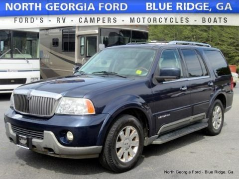 True Blue Metallic 2004 Lincoln Navigator Luxury 4x4