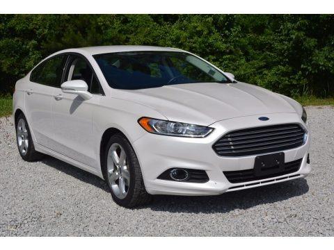 White Platinum Tri-Coat Metallic 2016 Ford Fusion SE