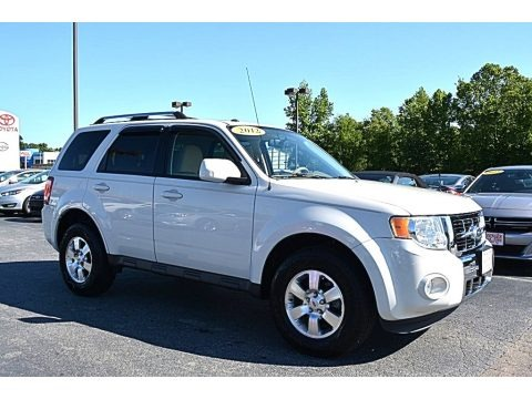 White Suede 2012 Ford Escape Limited V6