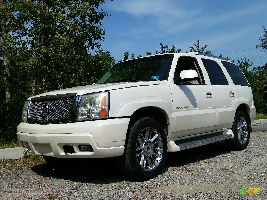 2005 cadillac escalade awd in white diamond 239005 all american automobiles buy american. Black Bedroom Furniture Sets. Home Design Ideas