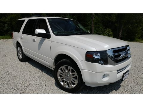 White Platinum Tri-Coat 2012 Ford Expedition Limited 4x4