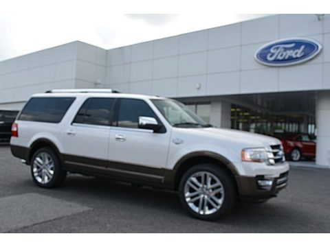White Platinum Metallic Tricoat 2016 Ford Expedition King Ranch 4x4
