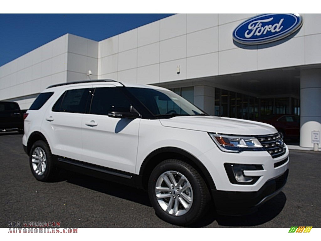 2016 ford explorer xlt in oxford white d21166 all american automobiles buy american cars. Black Bedroom Furniture Sets. Home Design Ideas