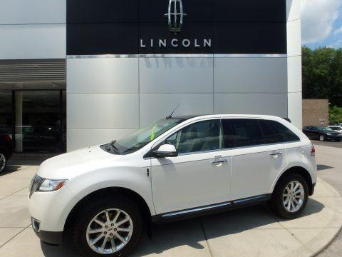 White Platinum Tri-Coat 2013 Lincoln MKX AWD
