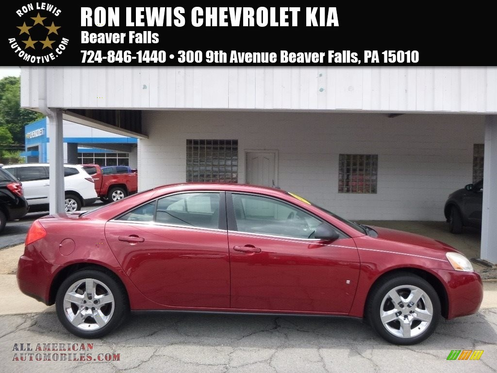 2008 Pontiac G6 Sedan In Performance Red Metallic 148113