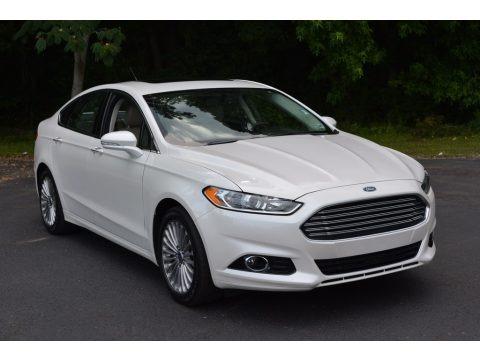 White Platinum Metallic 2015 Ford Fusion Titanium