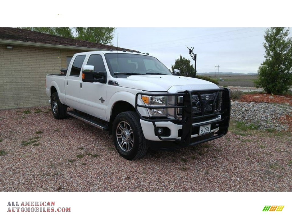 2013 ford f250 super duty platinum crew cab 4x4 in oxford white for sale b18733 all american. Black Bedroom Furniture Sets. Home Design Ideas