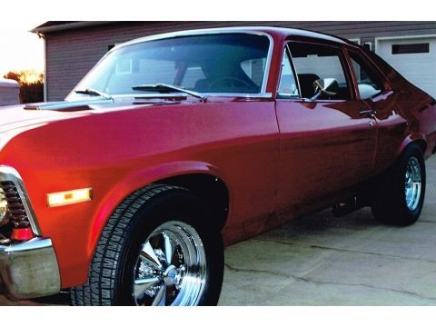 Vivid Red 1972 Chevrolet Nova