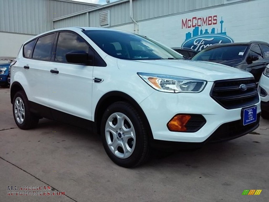 2017 ford escape s in oxford white a80791 all american automobiles buy american cars for. Black Bedroom Furniture Sets. Home Design Ideas