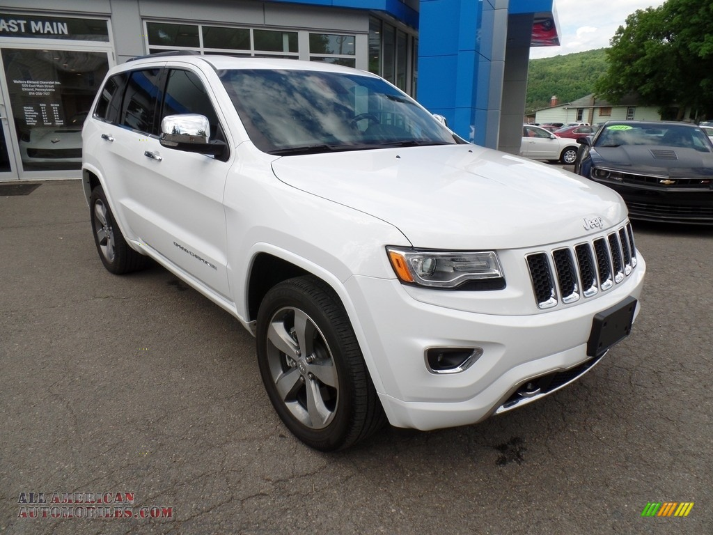 2016 jeep grand cherokee overland 4x4 in bright white 340370 all american automobiles buy. Black Bedroom Furniture Sets. Home Design Ideas