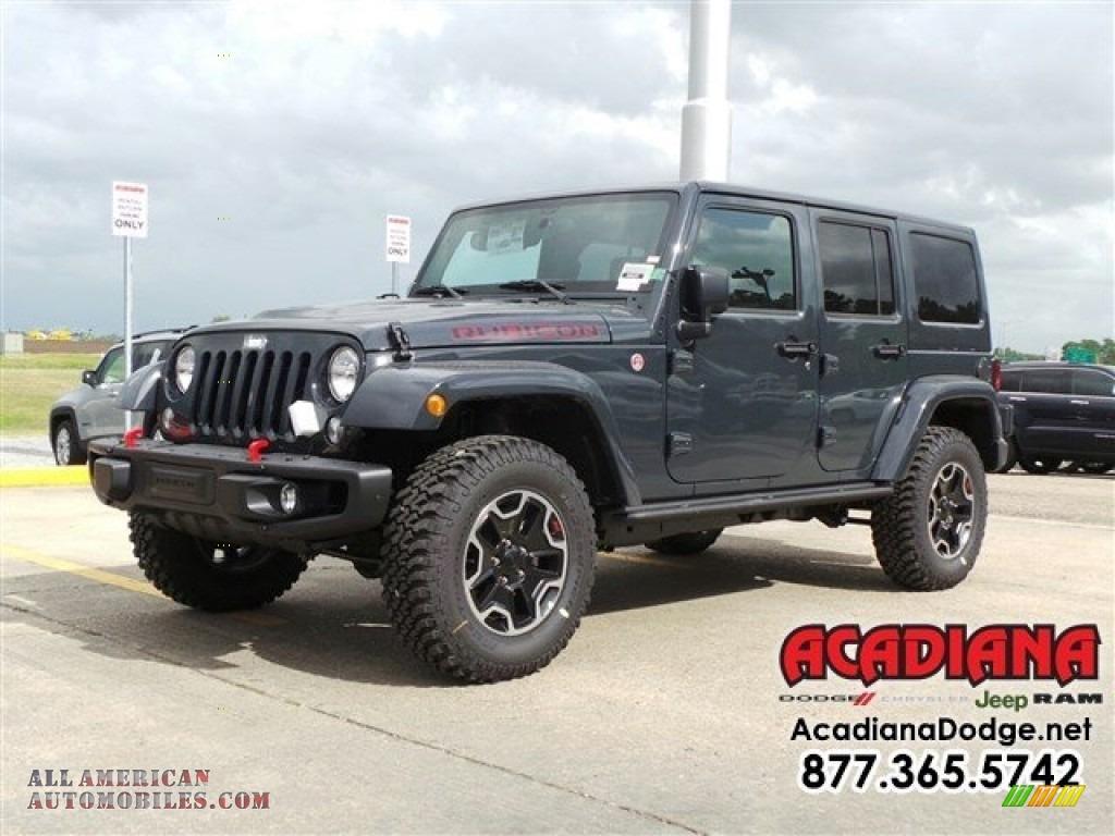 2016 jeep wrangler unlimited rubicon hard rock 4x4 in rhino 287471 all american automobiles