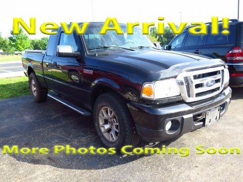 Black 2010 Ford Ranger XLT SuperCab 4x4